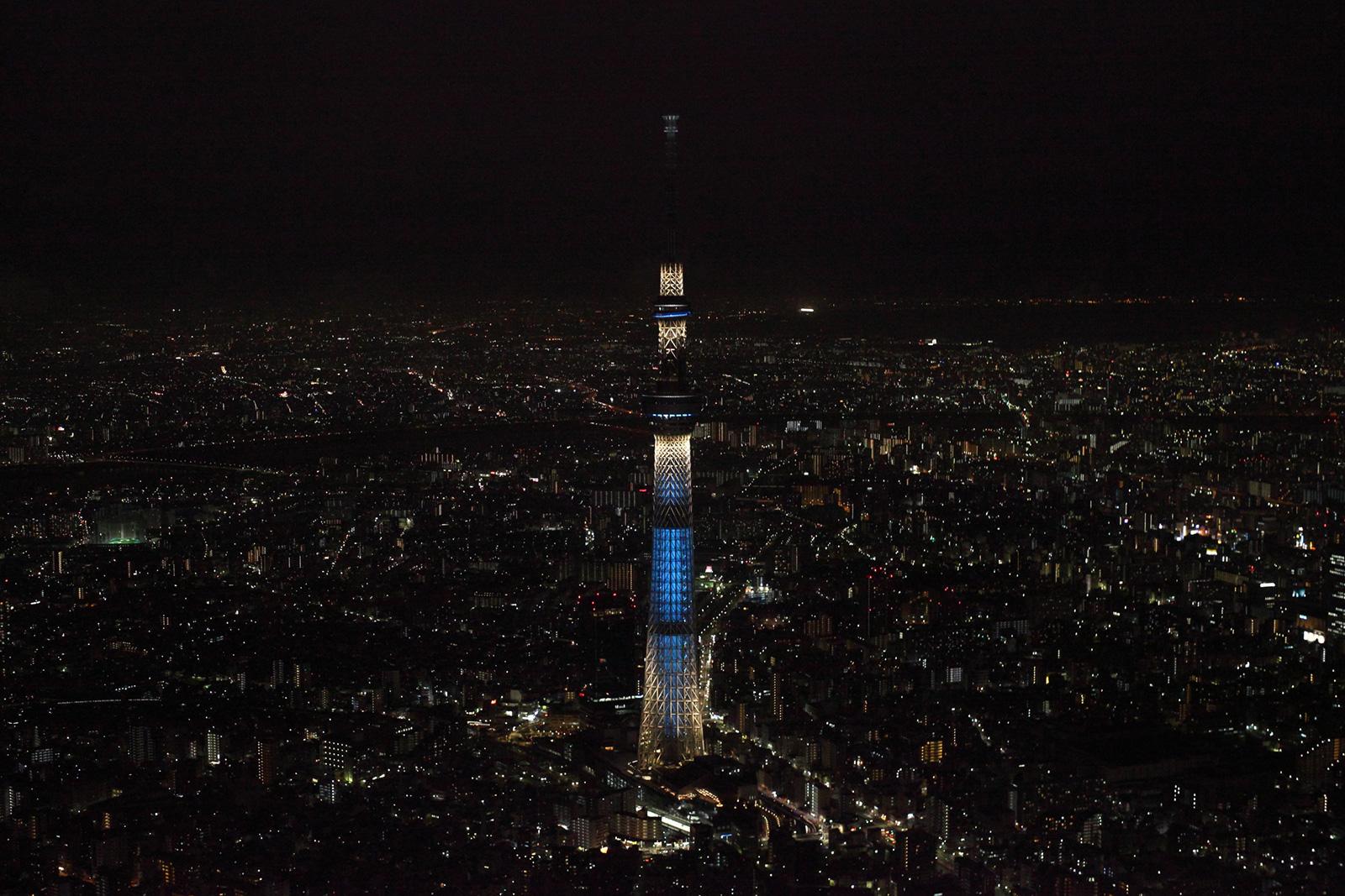 tokyo skytree night view 夜景への招待状