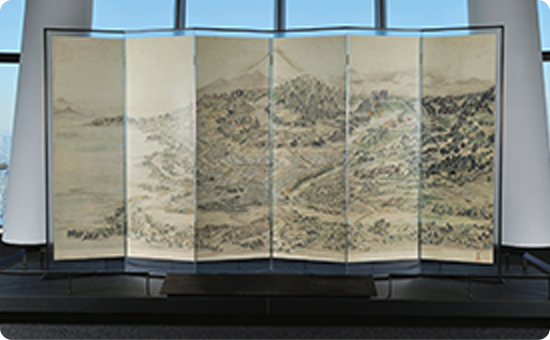 "Painted Folding Screen: ""EDO HITOMEZU BYOBU"""